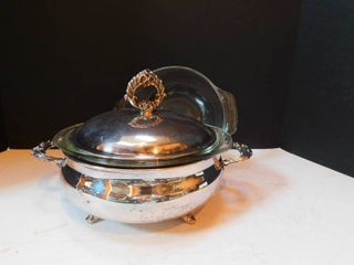 Silver Plated Serving Dish w Cover