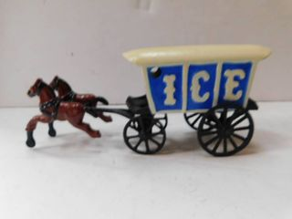 Diecast Metal   Horse   Ice Carrage