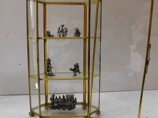 Display Cabinet   Pewter Figurines