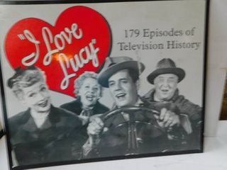 I love lucy Metal Sign