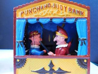 Punch   Judy Diecast Metal Coin Bank
