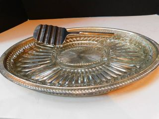 Oval Silver Serving Tray   Server