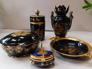 Vanity Set of limoges Castile
