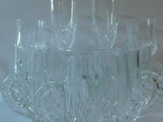 Crystal Champagne Flutes  Decanter  etc