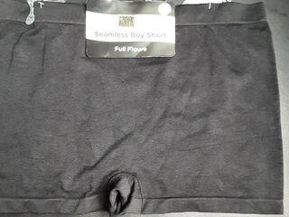 Seamless Boy Short Panties Sz  2X  Black