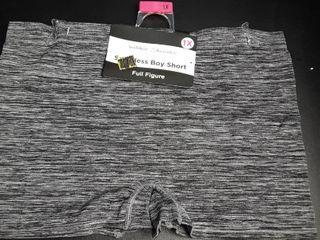 Seamless Boy Short Panties Sz  1X  Gray