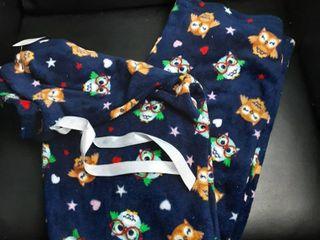 Blue Owl Print Pajama Pants Sz  l