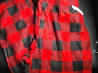 Men s Black  Red Pajama Pants Sz  large