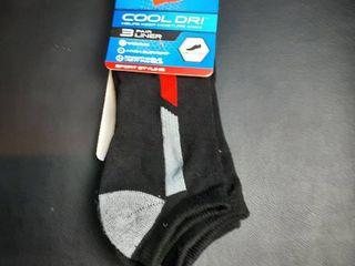 Hanes Cool Dri 3 Pack Men s Socks Sz  6 12