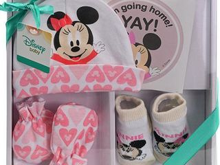 Minnie Mouse Baby Gift Set Pink   4 Piece