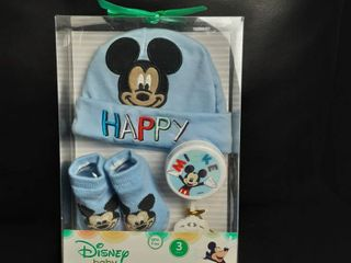 Mickey Mouse Baby Hat And Socks Gift Set   Disney Mickey Mouse Baby Gift Sets