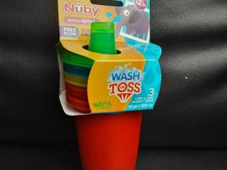 Nuby Stackable Wash Or Toss Cups 3 pack