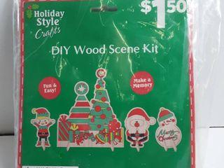DIY Wood scene kit make 4 Characters