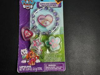 Nickelodeon Paw Patrol lipgloss Charm Bracelet Set