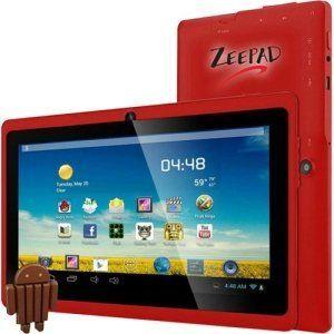 Zeepad 7DRK Q Tablet   7  WVGA   512 MB RAM   4 GB Storage   Android 4 4 KitKat   Red