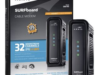 ARRIS SURFboard Factory Refurbished  32x8  DOCSIS 3 0 Cable Modem  Approved for XFINITY Comcast  Cox  Charter and most other Cable Internet providers for plans up to 600 Mbps   SB6190 RB