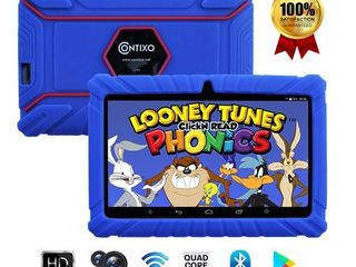 Contixo V8 2 7 Inch Kids learning Android Tablet Parental Control 16GB   Preloaded Educational Apps   Child Proof Case  Blue