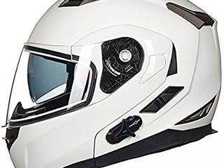IlM 902 White Motorcycle Helmet Bluetooth Size Medium Retail   189 99