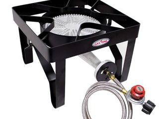 Gas One Propane Single Burner 200 000BTU Heavey Duty   0 20 PSI Adjustable Regulator and Hose Camp Stove