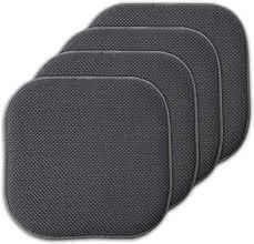 Sweet Home Collection Cushion Memory Foam Honeycomb Chair Pads   Set of 4