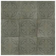 SomerTile Cantabria Nero Ceramic Tiles   10 Pack