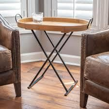 Daphne Oval Wood Tray Top Folding Table