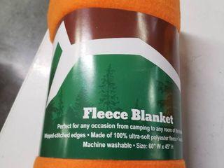 Trail Worthy Orange Fleece Blanket