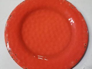 Melange 6 Piece Melamine Rustic Collection Dinnerware Plate Set