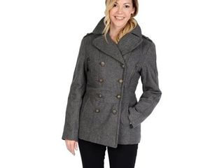 Women s Wool Blend Fashion Pea Coat   Xl