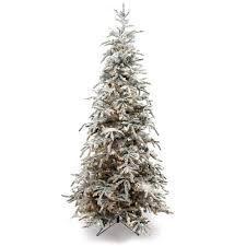 9ft Flocked Balsam Prelit Christmas Tree