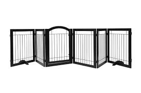 PAWlAND Extra Wide Freestanding Dog Gate w  Door Walk Through