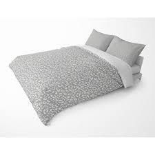 leopard White on Grey Duvet Cover by Kavka Designs   Queen