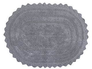 DII Oval Reversible Soft Crochet Bath Mat