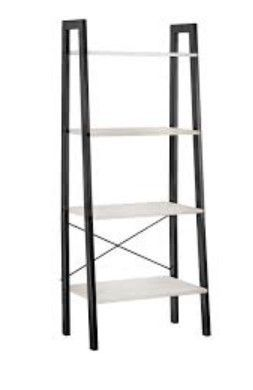 Carbon loft 4 Tier Whitewashed ladder Shelf