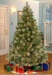 Pre lit Chriatmas Tree w  Clear lights