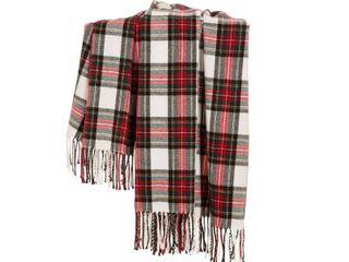 Plaid Woven Throw Blanket