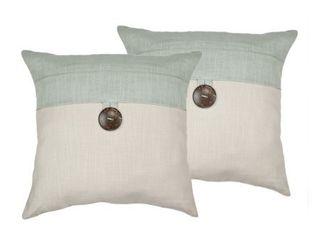 Sherry Kline Oasis Aqua Decorative Pillows   Set of 2