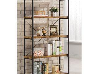 Glavan Small Wood   Metal Open Antique Bookcase