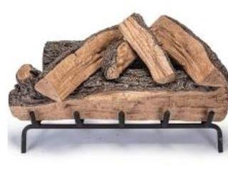 Real Fyre Designer Series Split Oak Faux logs for Fireplace