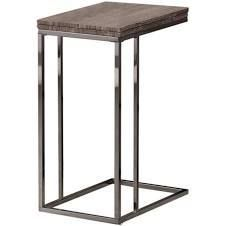 Weathered Finish Expandable Side End Table
