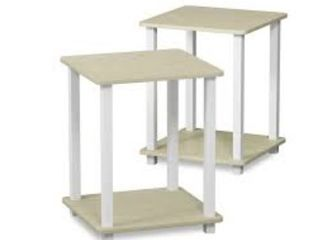 Porch  amp  Den Rutherford Simplistic End Tables   Set of 2