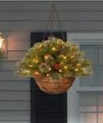 National Tree Company Colonial Hanging Basket w  lED lights
