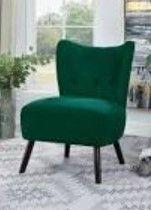 Carson Carrington Falltorp Velvet Tufted Accent Chair
