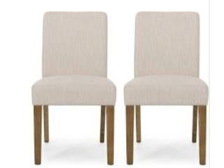 Kuna Contemporary Upholstered Dining Chairs   Set of 2
