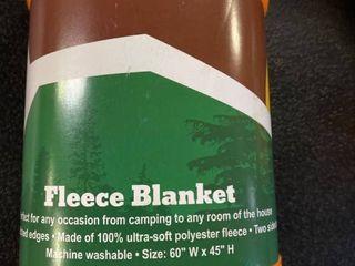 Trail Worthy Reversible Blue Fleece Blanket