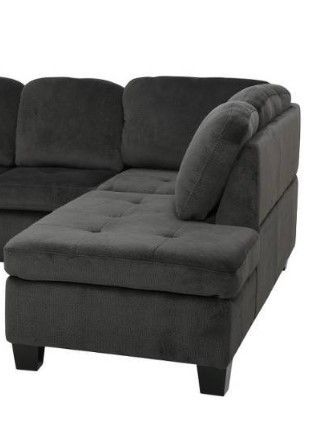 Canterbury Fabric Sectional Chaise by Christopher Knight Home