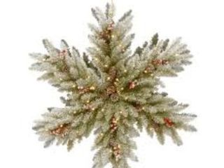 Snowy Dunhill Fir Double Sided Snowflake w  lED lights