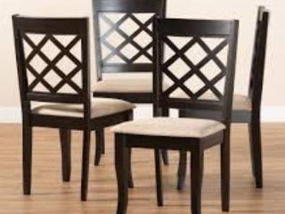 Copper Grove Aden Modern Fabric 4 Piece Dining Chair Set