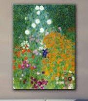 Gustav Klimt Farmhouse Garden Gallery Wrapped Canvas