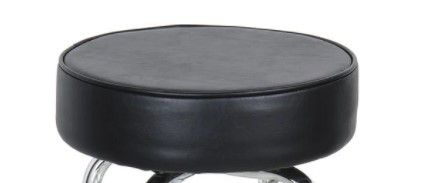 Offer Double Ring Chrome Metal Backless Replacement Stools   Set of 6